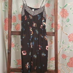 Black spring dress.
